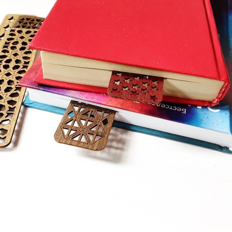 Деревянные оригинальные закладки для книг