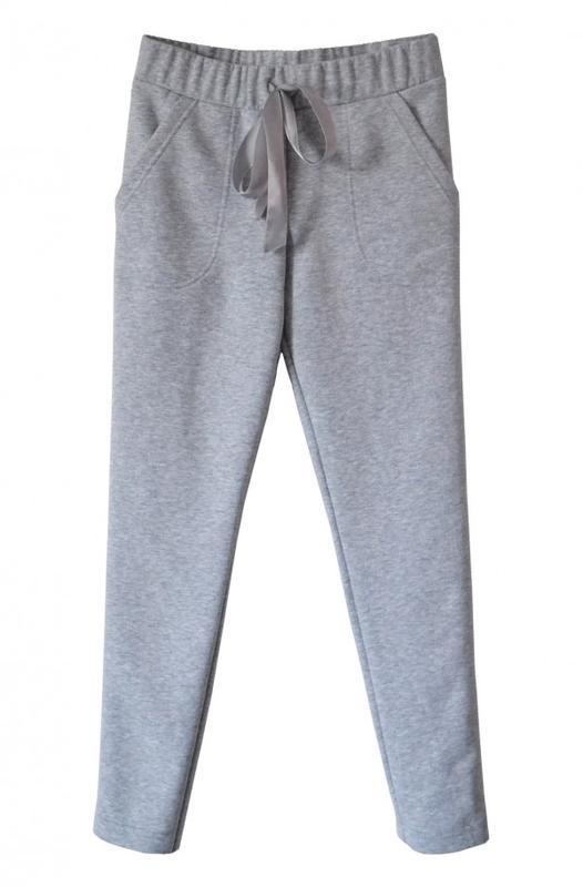 Серые трикотажные брюки (с начесом/ без начеса)