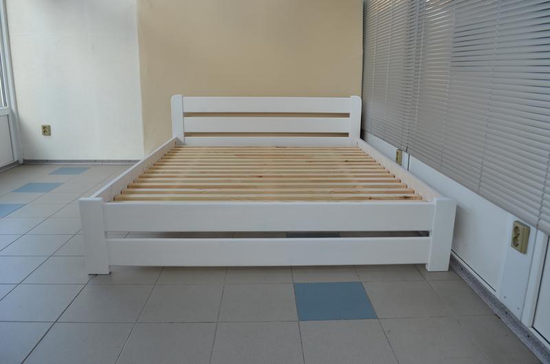Кровать Деревянная Рич 160х200см Двуспальная. Белая