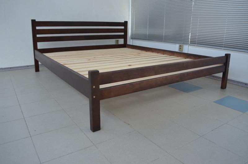 Деревянная кровать Престиж-Эко 140х200см цвет Темный Орех