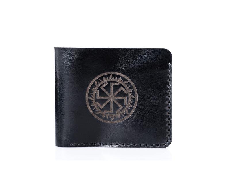 Чорне портмоне Franko Junta black Small wallet з натуральної шкіри