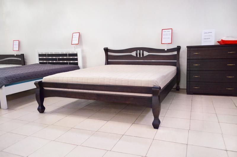 Кровать Деревянная Кронос 140х200см. массив Сосны цвет Темный Орех
