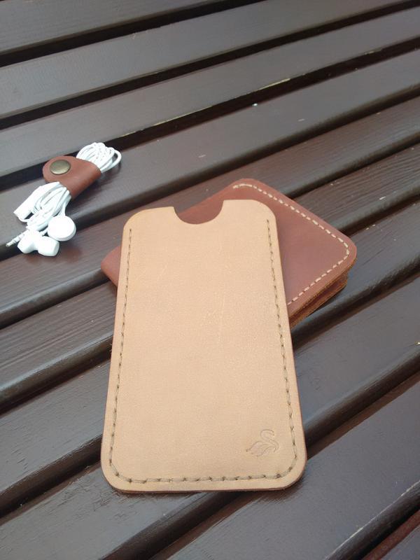 Кожаный чехол на телефон (размер под заказ)