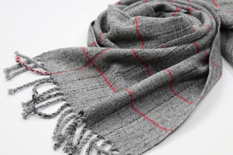 Тканый шарф Серый твид