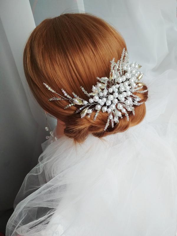 """Свадебный гребешок для волос (праздничный гребешок) """"Rita"""""""