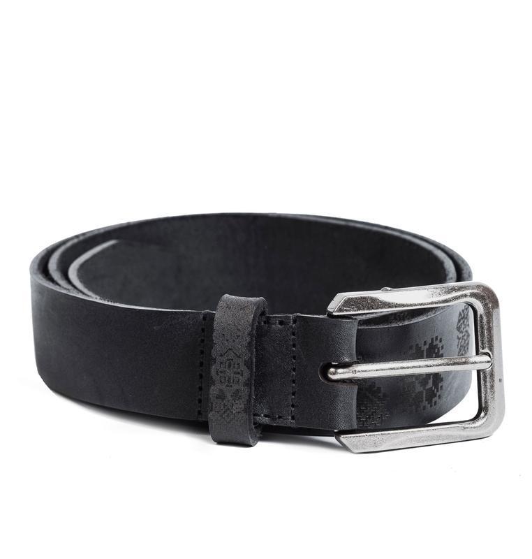 Чорний ремінь Franko UA pattern black Big belt з ремінної шкіри бика