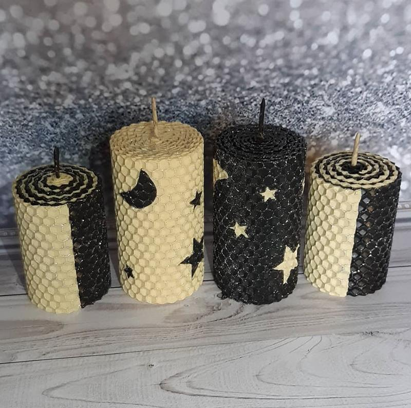 """Интерьерные декоративные свечи """"Звездная ночь"""""""
