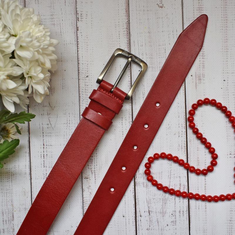 Passion ремень женский кожаный красный
