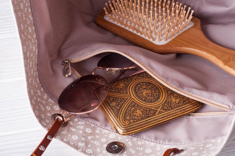 Сумка из канваса с кожаными ручками и водоотталкивающей подкладкой в бежевом цвете | 1_0048_BRN