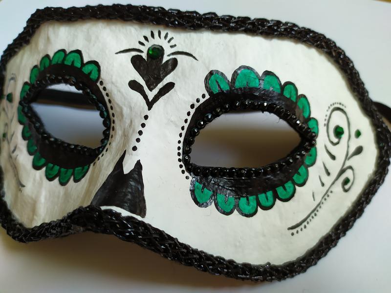 """Карнавальная маска  на «Santa Muerte» (""""Санта Муэрте"""")  № 2"""