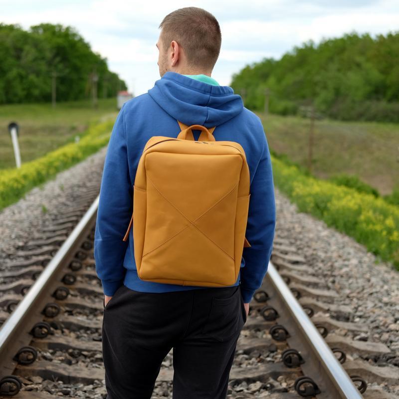 Кожаный рюкзак для учебы