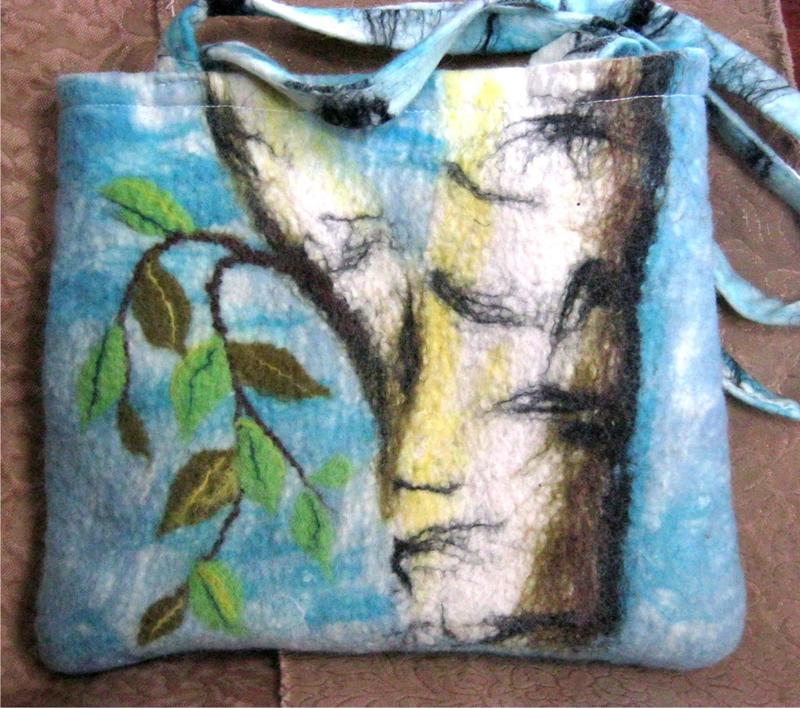 Валяная сумка Маленькая совушка