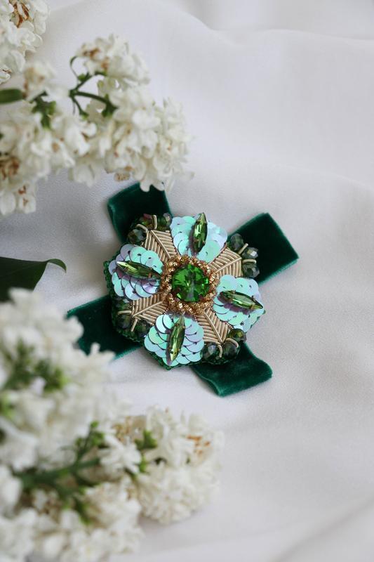Брошка орден зелений