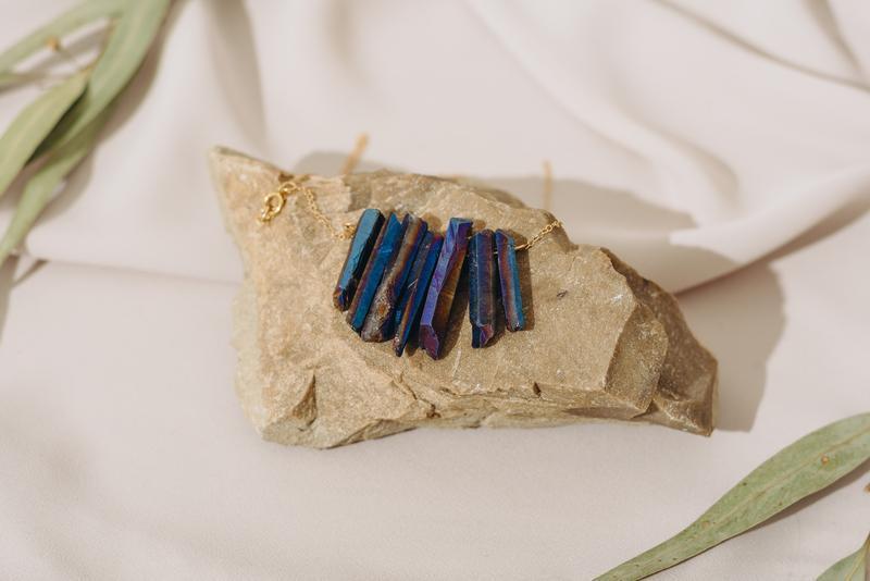 Подвеска из синего кварца, подвеска с натуральными камнями