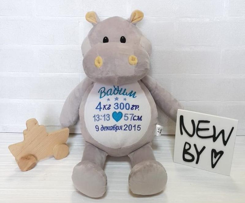 Днем рождения, игрушка с надписью для новорожденных тюмень