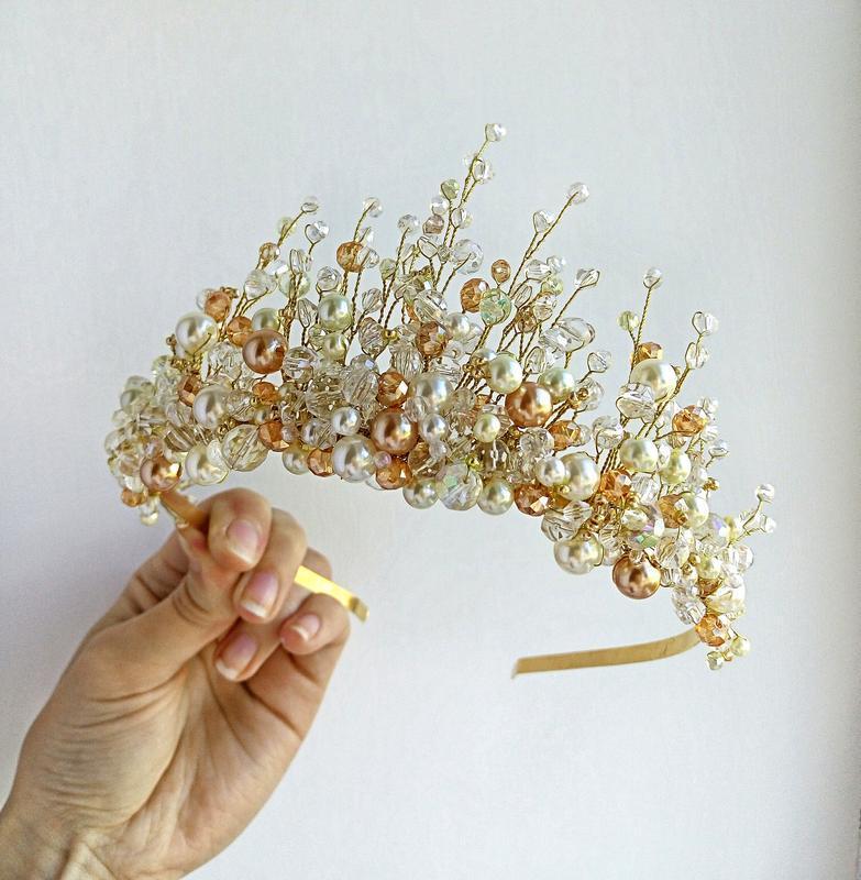 Корона, диадема, свадебная корона, свадебная диадема, диадемы на выпускной, короны из камней