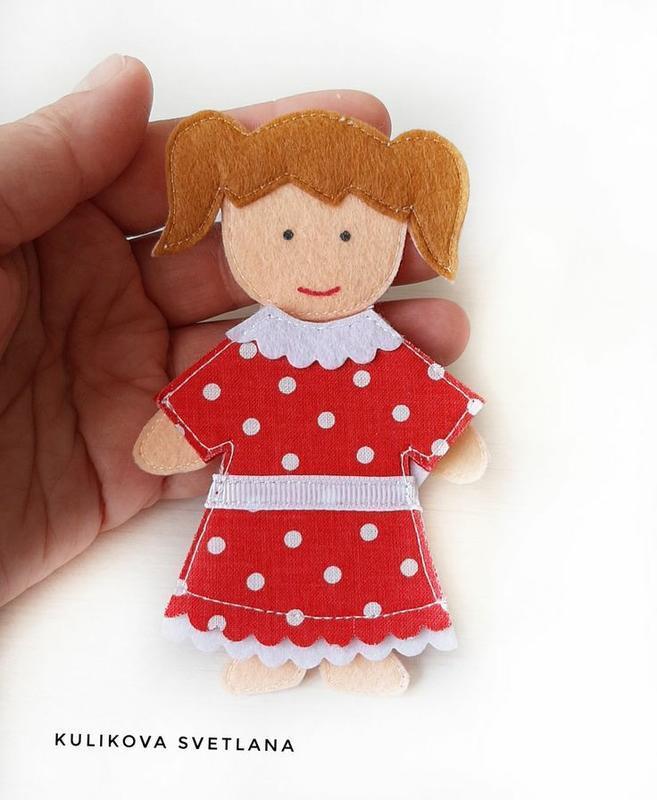 Фетровая книжка-сумка Кукольный  домик