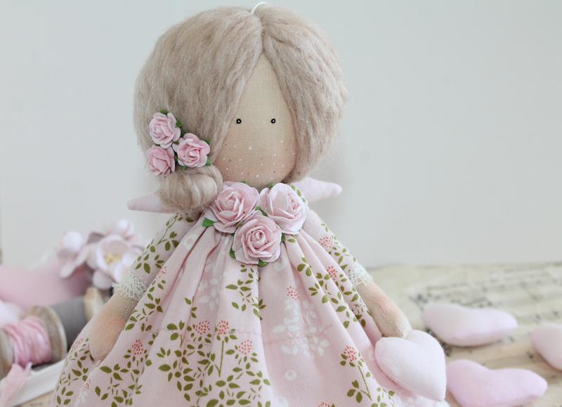 Ніжна текстильна лялька, інтер'єрна! Тільда