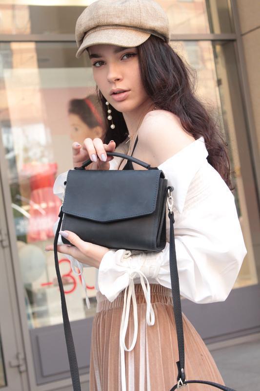 Кожаная сумочка через плечо. Женская сумочка