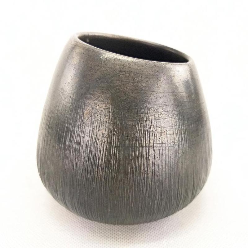 Современная керамическая матовая черная ваза ручной работы, 13 см высота,арт.№32