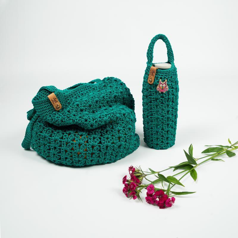 Вязаная сумочка-авоська
