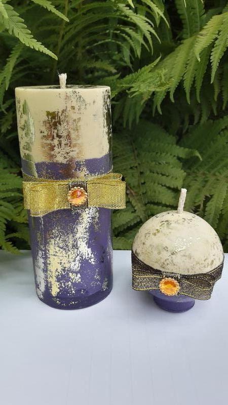 """Набор свечей """"Ночь в Нью-Йорке""""  из пчелиного воска / Ароматизированные свечи"""