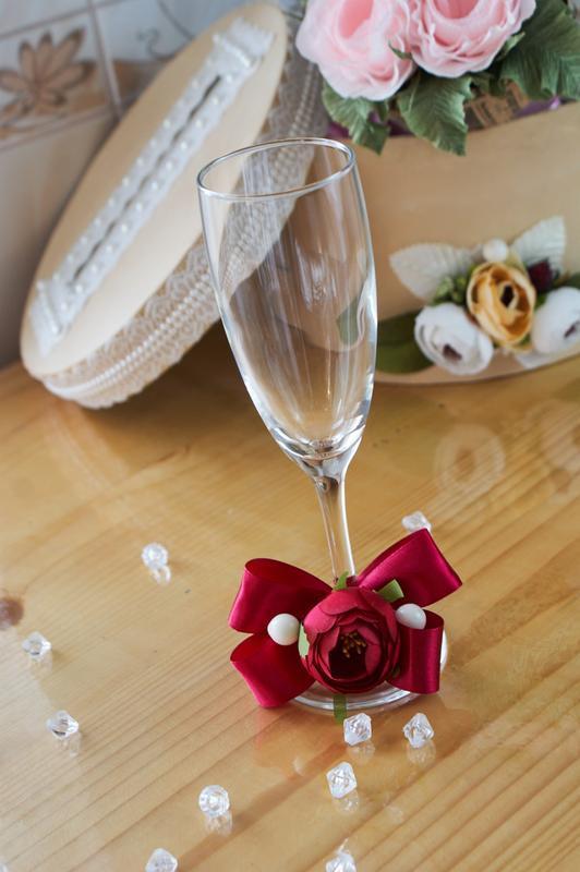 Свадебные бокалы для шампанского арт. 9006