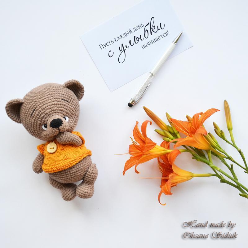 Ведмедик в'язаний / Медвежонок вязаный / Вязаный мишка