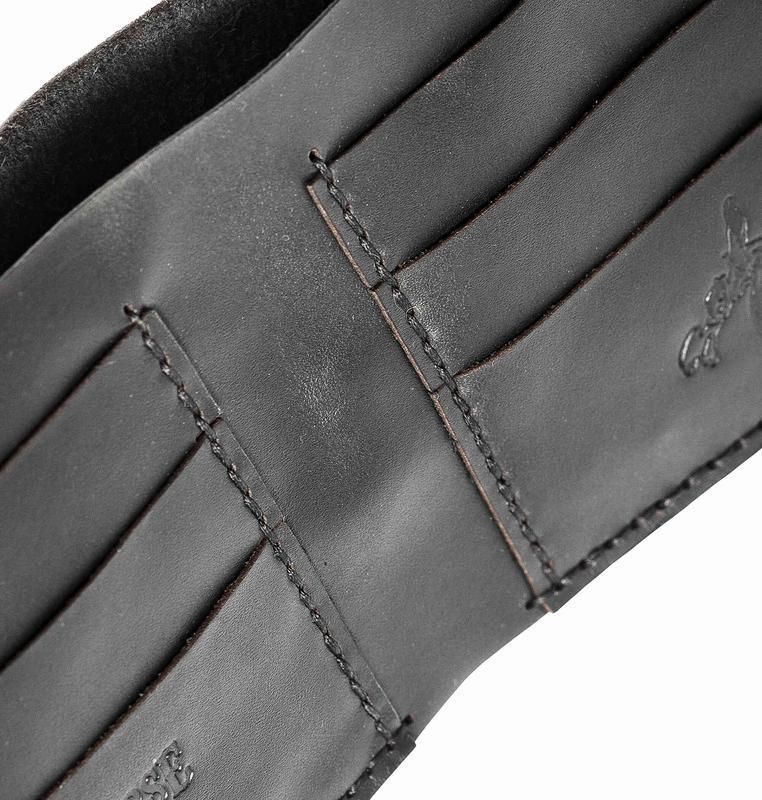 Черное портмоне DH BLACK MEDIUM WALLET из кожи
