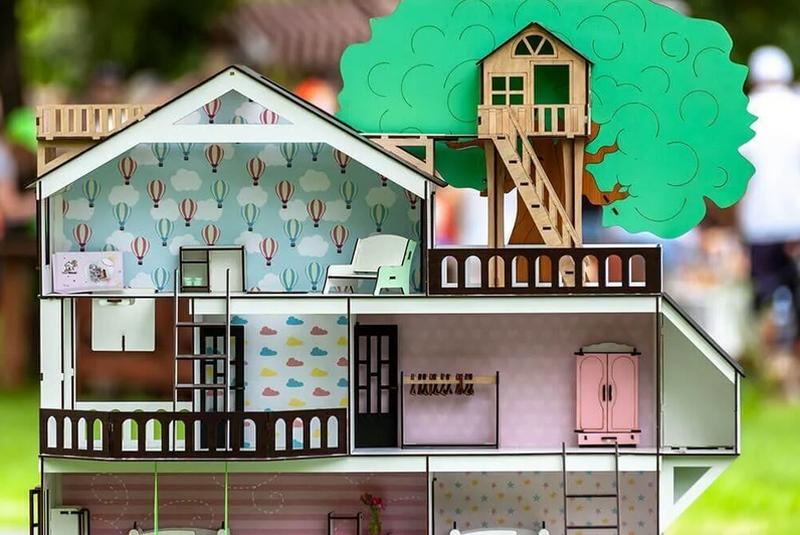 """Большой игровой набор кукольный """"Дом приключений для LOL"""" с мебелью и аксесуарами 112 см"""