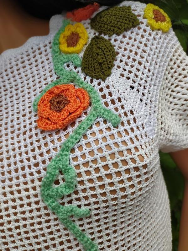 Блузка ручной вязки