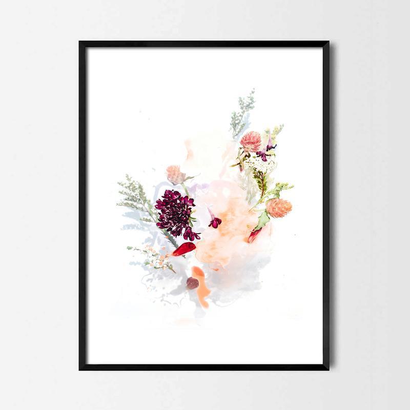 Фотопостер Акварельные цветы №1