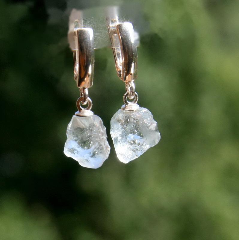 Серебряные серьги с топазом, серебряные серьги с камнями, подарок
