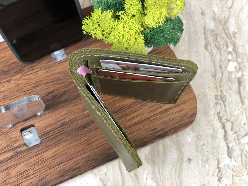 Компактный кожаный кардхолдер персональный подарок другу или близкому человеку