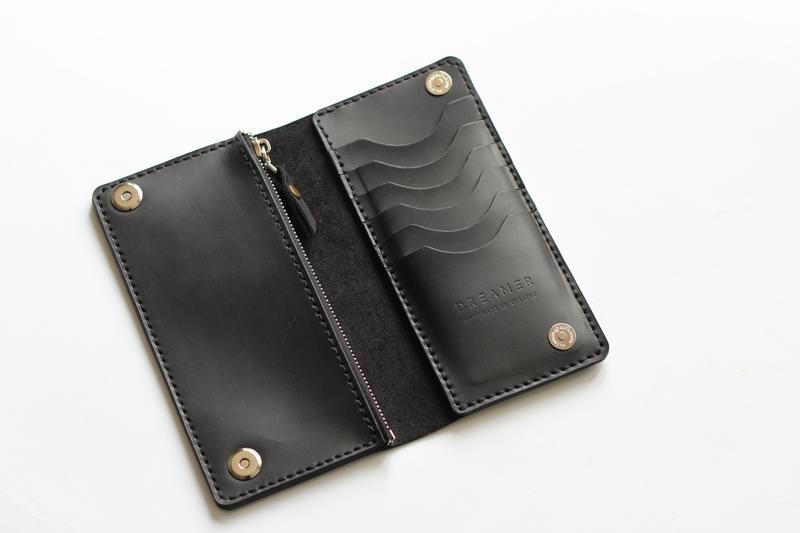 Кожаный клатч портмоне из натуральной кожи