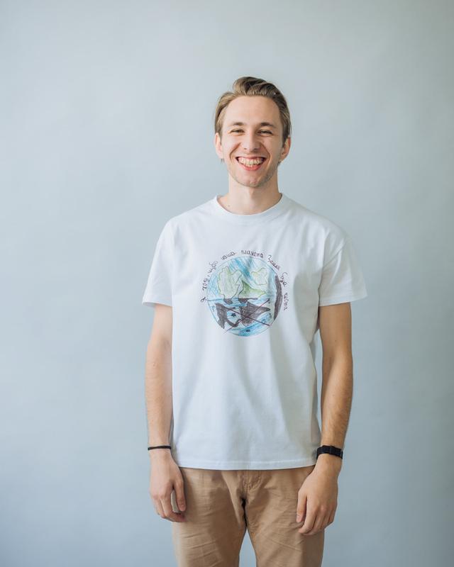 Мужская футболка с оригинальным принтом рисунком