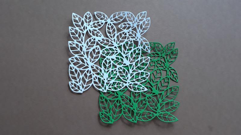 Фоновая вырубка для скрапбукинга ′ Фон из листьев ′ , декор