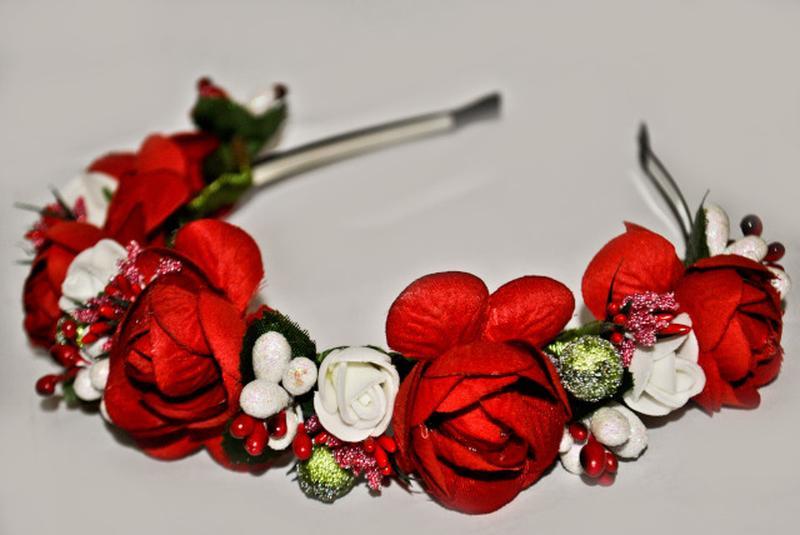 Ободки для волос цветы