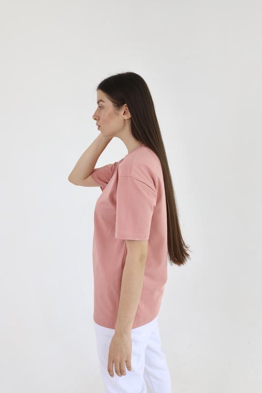 Базовая хлопковая футболка прямая и оверсайз кроя разные цвета