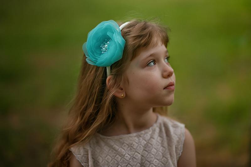 Обруч для волос с цветком Ободок для девочки