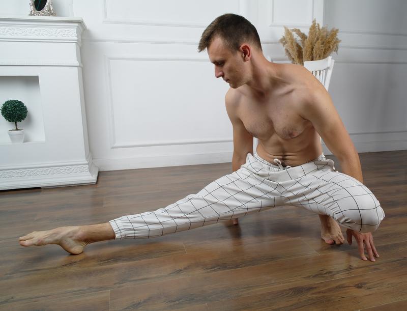 Мужские брюки из натурального льна