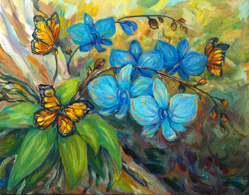 Живопись цветы Картина цветы Красивые картины цветов Картина орхидея Картины с орхидеями