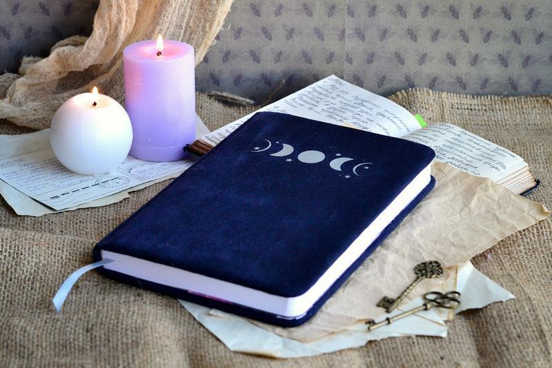 Замшевый Астро-блокнот, блокнот астролога, блокнот для раскладов