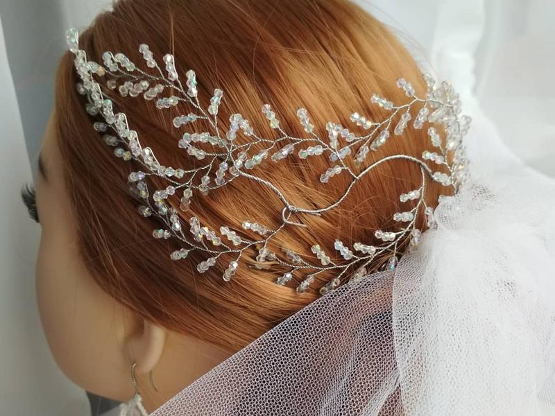 """Свадебная веточка для волос (веточка в прическу для невесты) """"Lilly"""""""