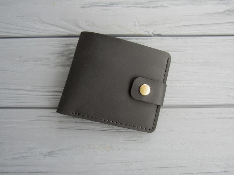 Классическое кожаное мужское портмоне из винтажной кожи
