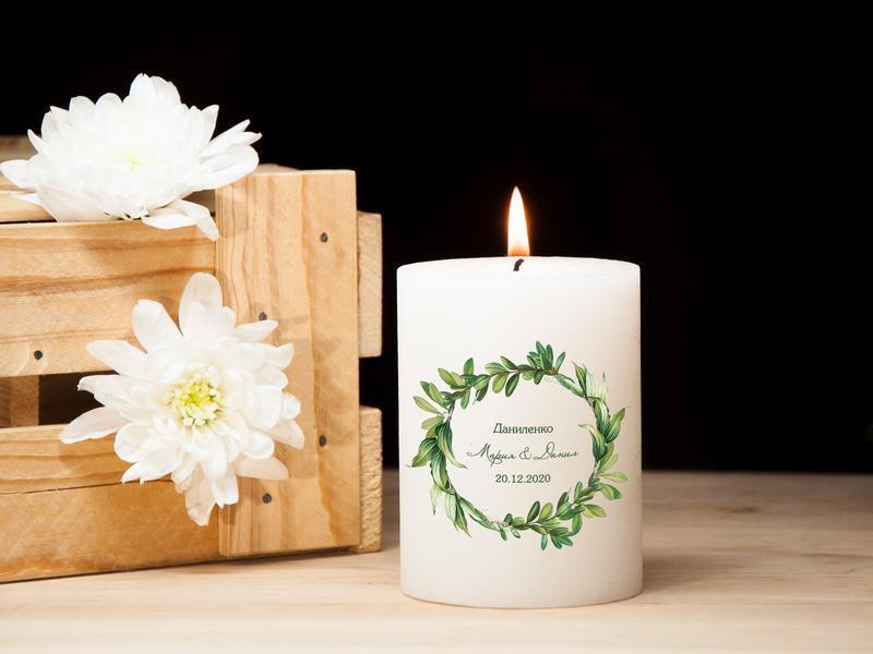Подарочная свеча на свадьбу с индивидуальным рисунком, свадебные свечи