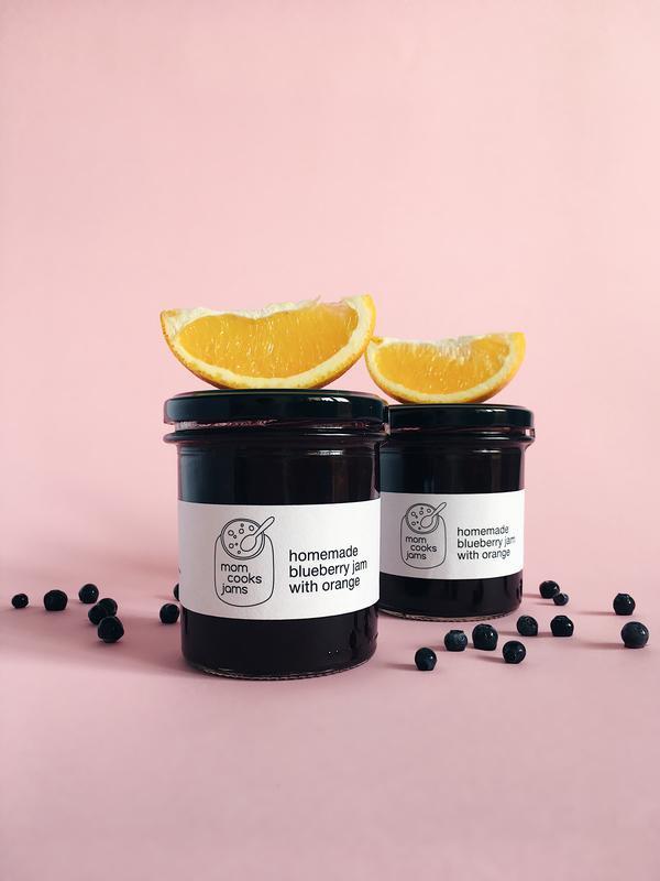 Черничное варенье с апельсином, 340 г