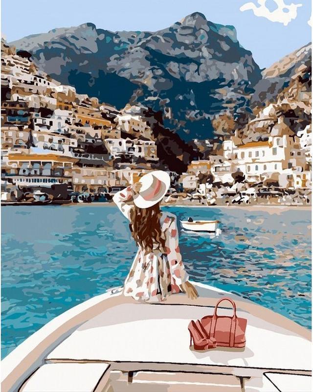 Картина по номерам 40x50 Путешествие на яхте
