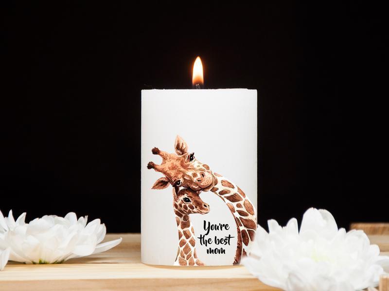 Декоративная свеча на подарок для мамы You're the best mom