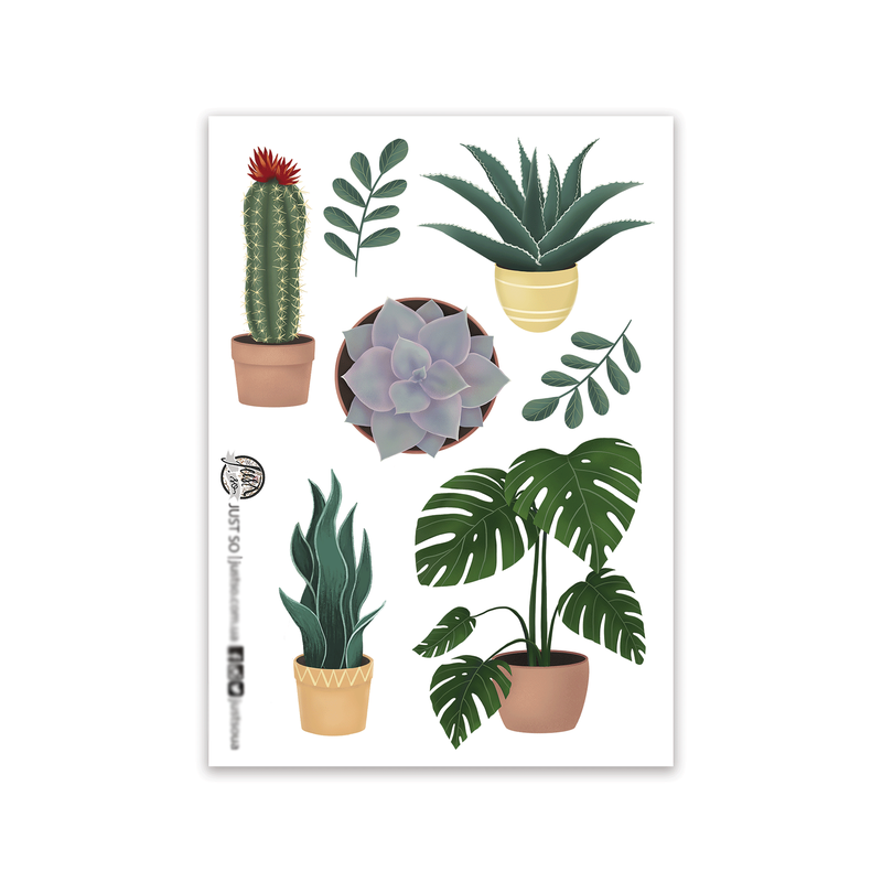 Стікерпак «Комнатные растения»